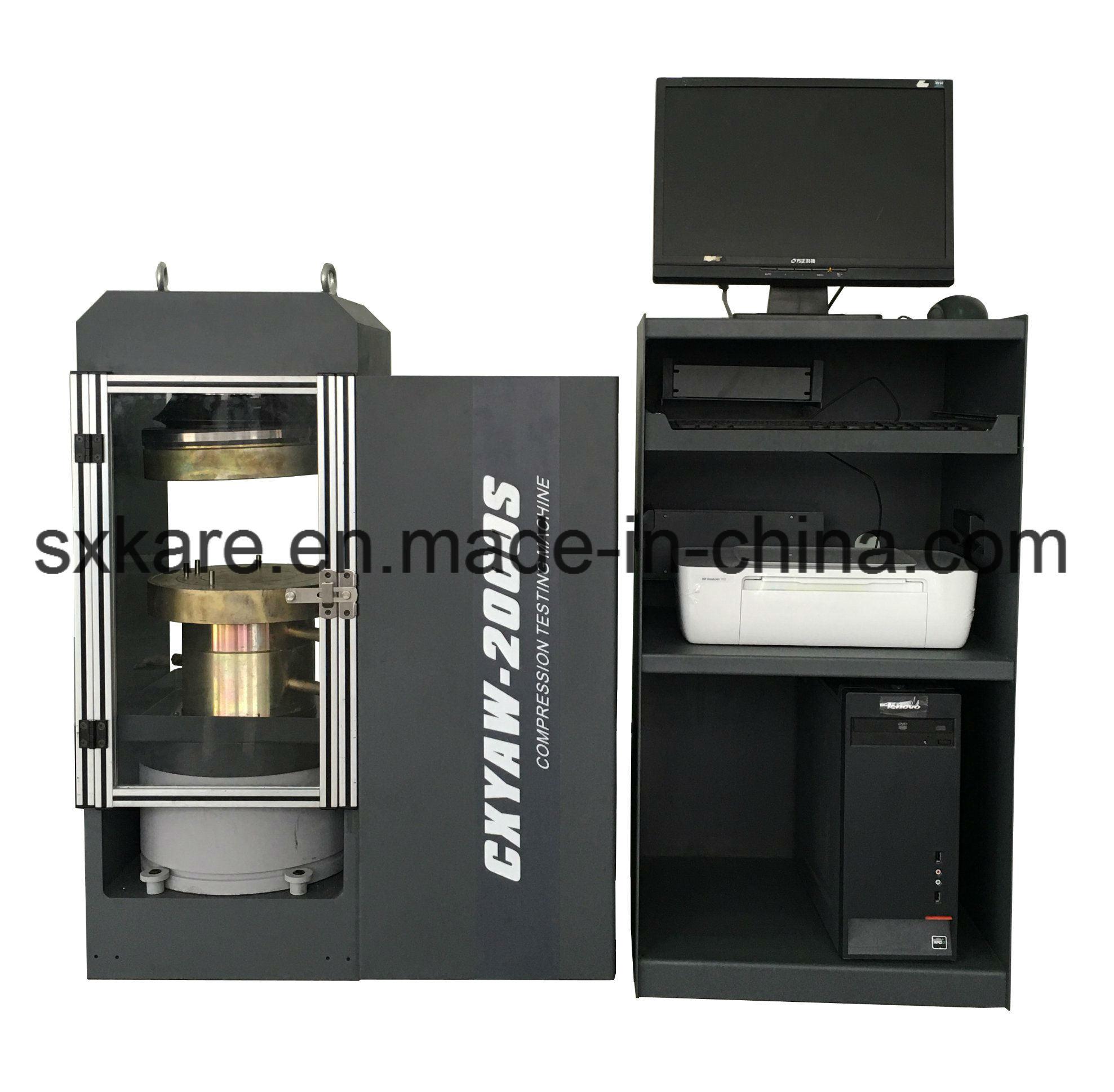 Computerized Electro-Hydraulic Servo Compression Testing Machine (CXYAW-2000S)