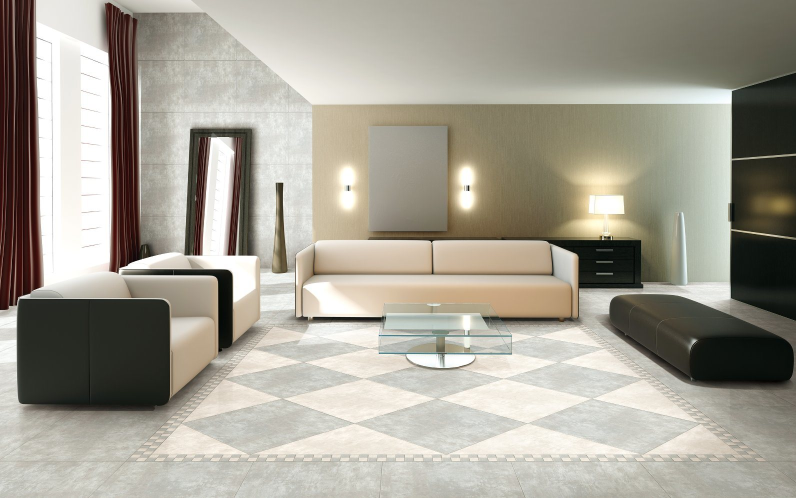 Gaogesi Series-Cement Design/Hot Sales Matte Finished/Rustic Tile Antique Brick Porcelain Floor Tile