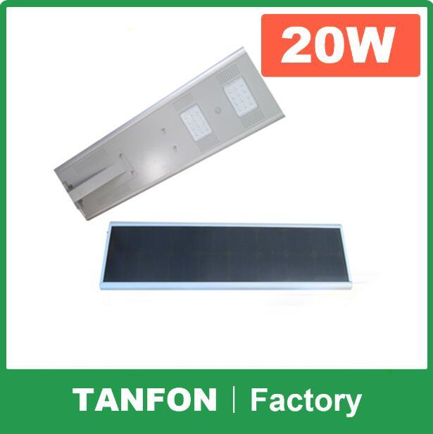 Solar LED Street Light 20W All in One Design with Motion Sensor