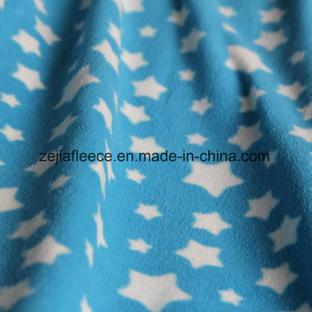 Print Micro Fleece Fabric with Antipilling