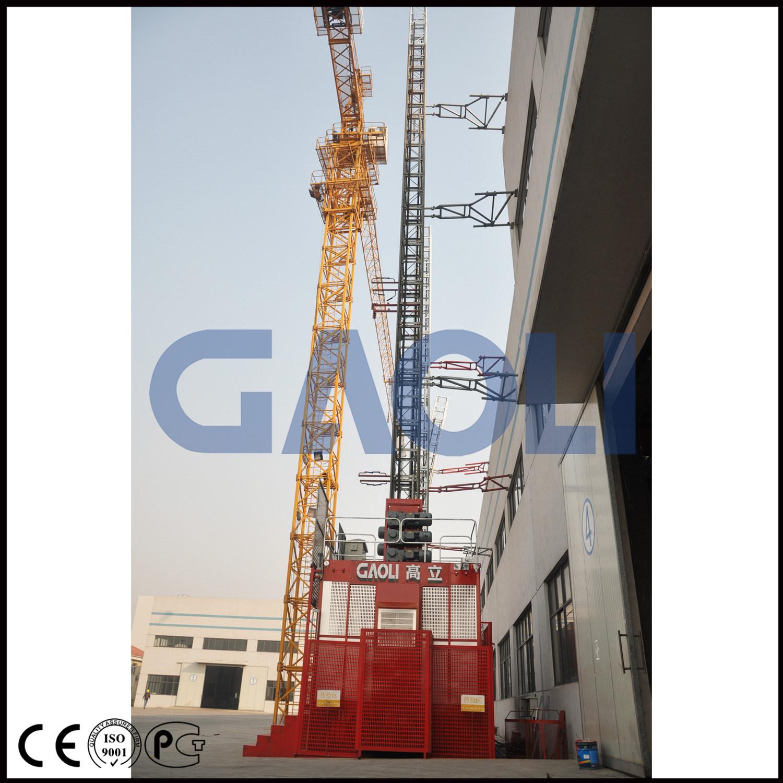 Gaoli Scq100/100 Double Cages Lean Construction Hoist