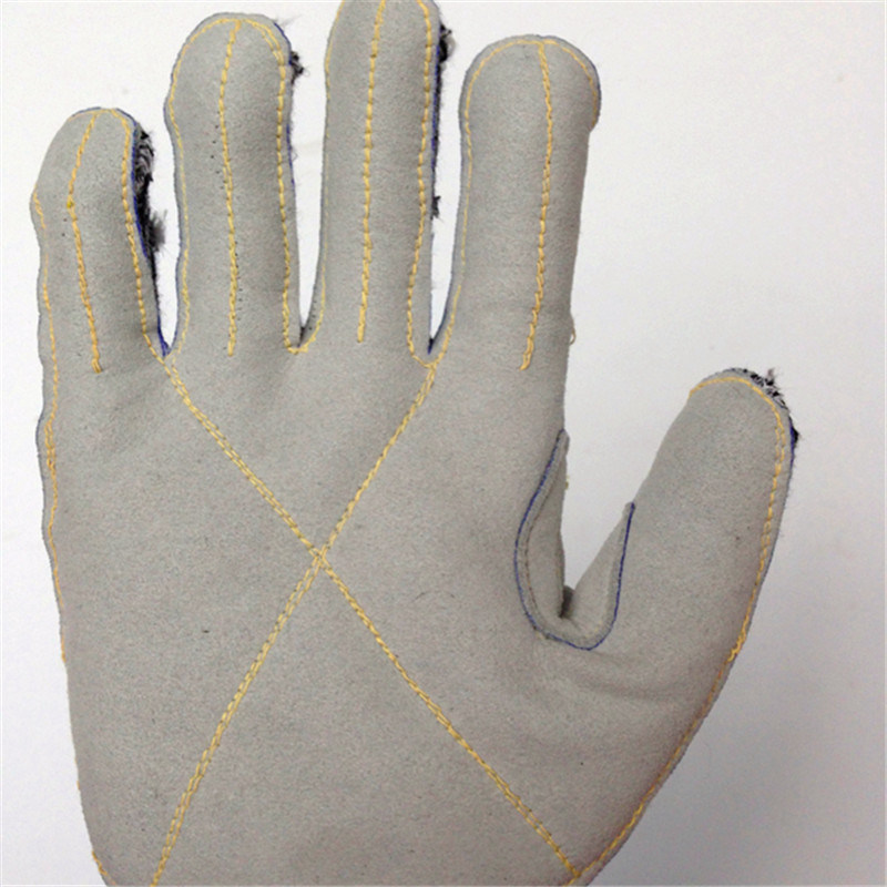 Hppe/Glass Fiber Safety Gloves with Micro Fibre Sewing