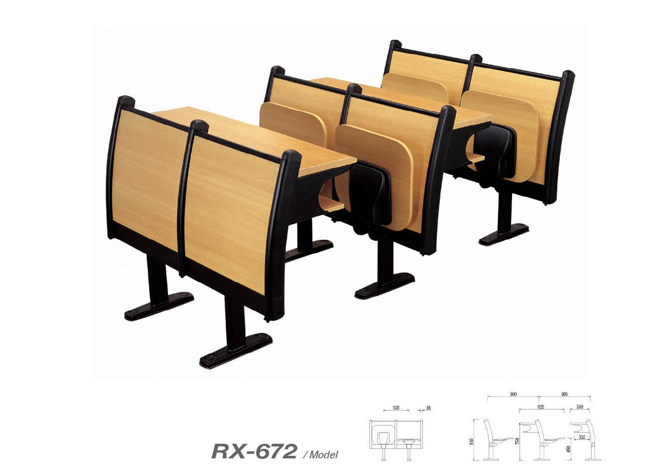 Modern Wooden School Chair (RX-672)
