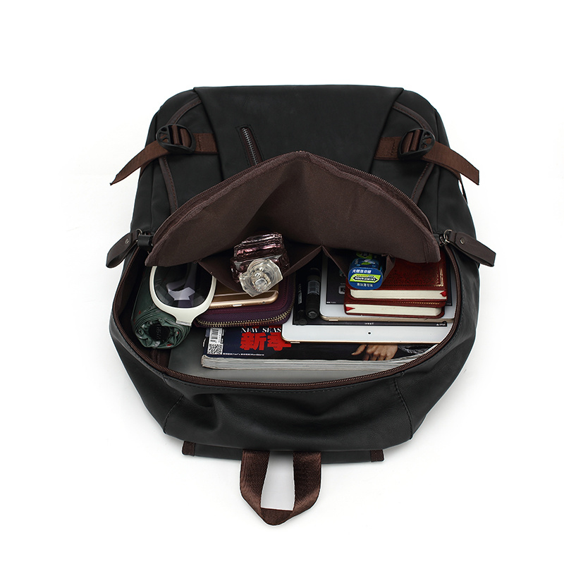 Travel and Casual Backpack with PU for Man (8103)