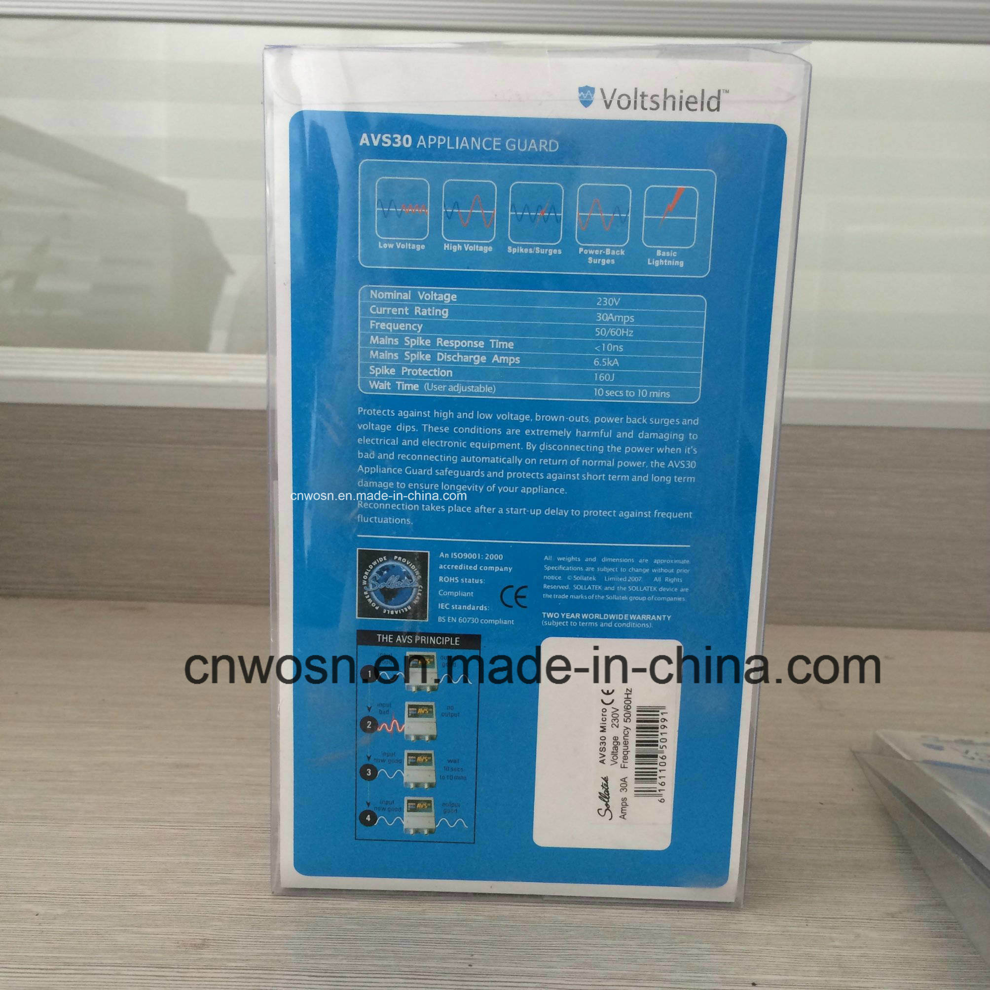 Household AVS 30A Sollatek Voltage Guard Voltage Protector