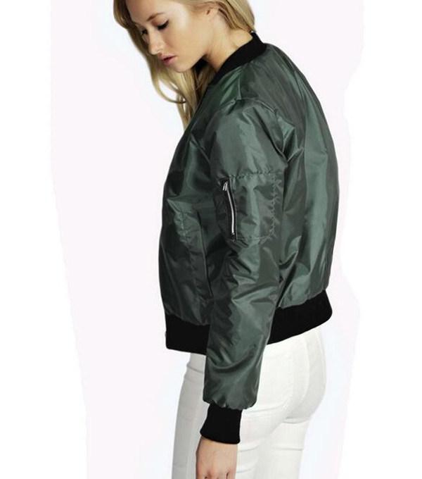 2016 Fashion Design Plus Size Classic Collar Zipper Ladies Jacket (T010)
