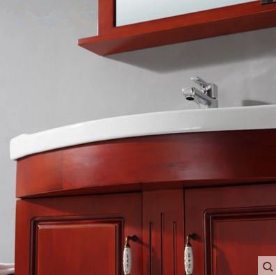 Soild Wood Bathroom Oak Cabinet Simple European Ceramic Basin