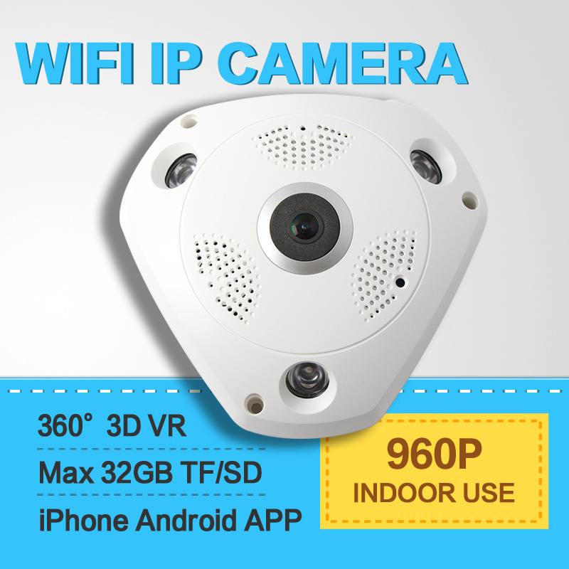 Fish Eye Camera 3D 360 HD 960p WiFi IP Vr