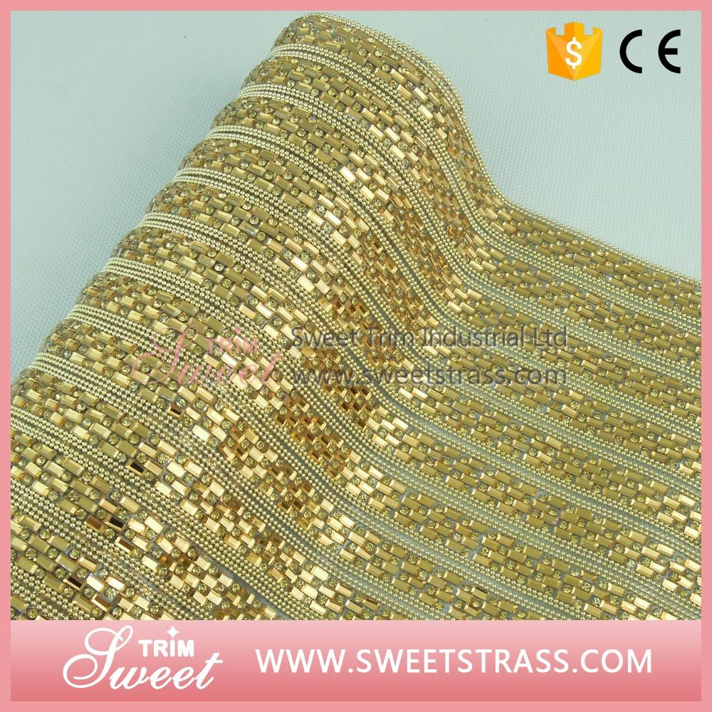 Garment Shoes Accessories 24*40cm Adhesive Hot Fix Strass Crystal Rhinestone Sheet Mesh Sticker