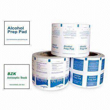 Printed & Laminated Aluminium Foil Paper for Alcohol Prep Pad and Cleaning Tissue\Alcohol