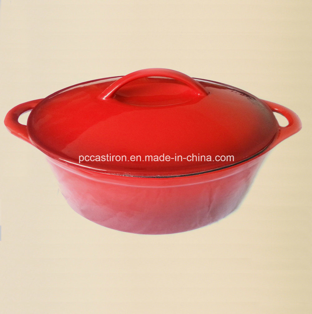 Enamel Finishing Cast Iron Cookware Casserole Size 27X21.5cm