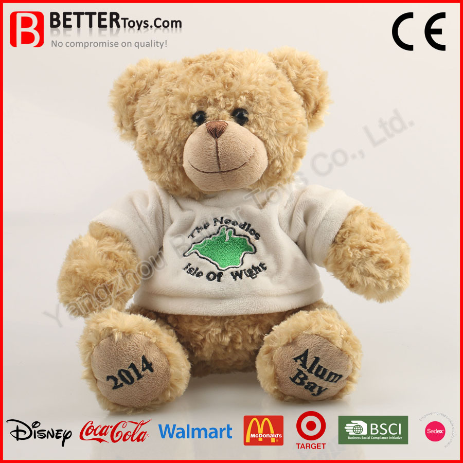 Stuffed Animal Teddy Bear in Shirt Plush Toy for Baby Kids/Children