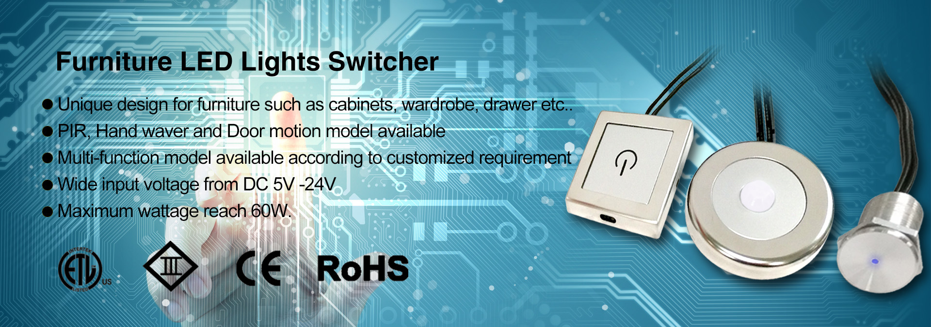 LED Touch and Dimmer Sensor Switch