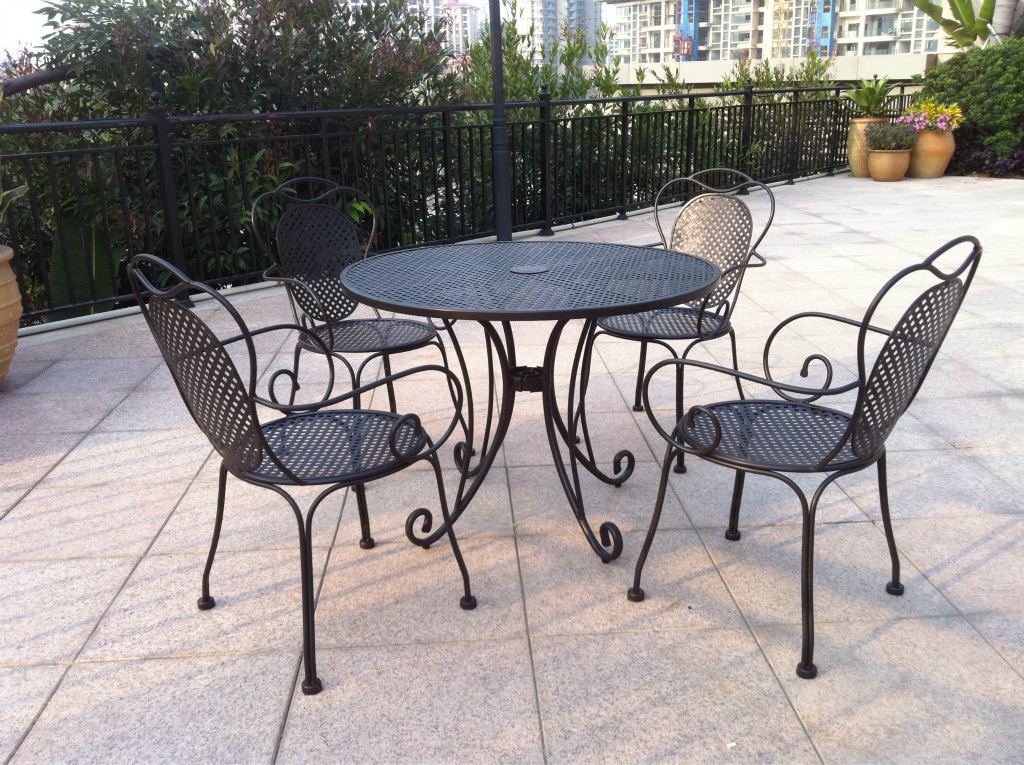 Wrought Iron Furniture Series (Table and Chair)