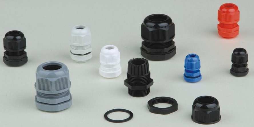 Plastic Waterproof Adjustable 3.5 - 13mm Cable Gland Joints, Pg7, Pg9, Pg11, Pg13.5, Pg16,
