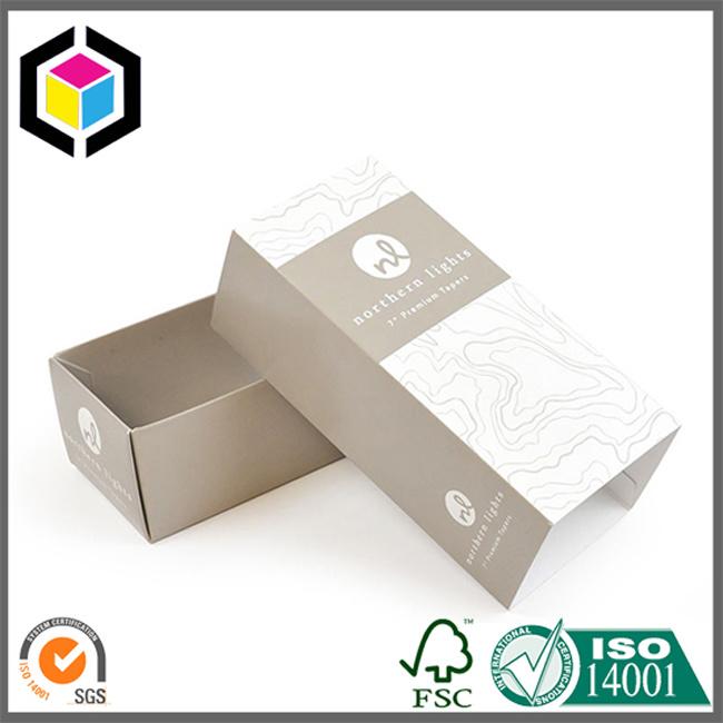 Silver Foil Logo Cardboard Perfume Packaging Paper Box