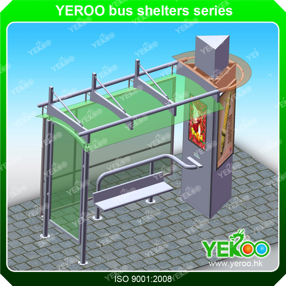 Outdoor Customize Advertising Street Signage Display Bus Stop Shelter