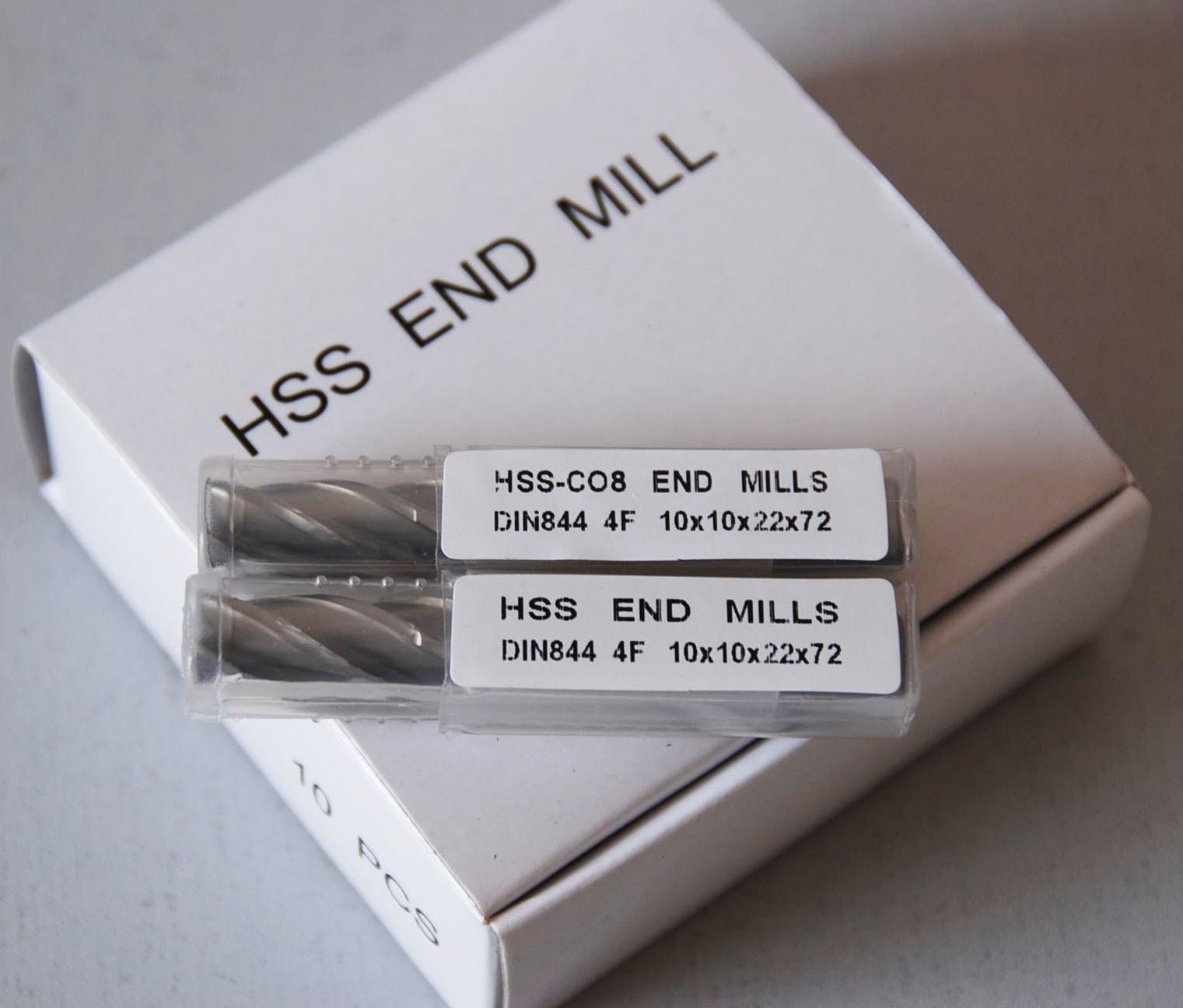 4 Flute End Mills, DIN844 H10