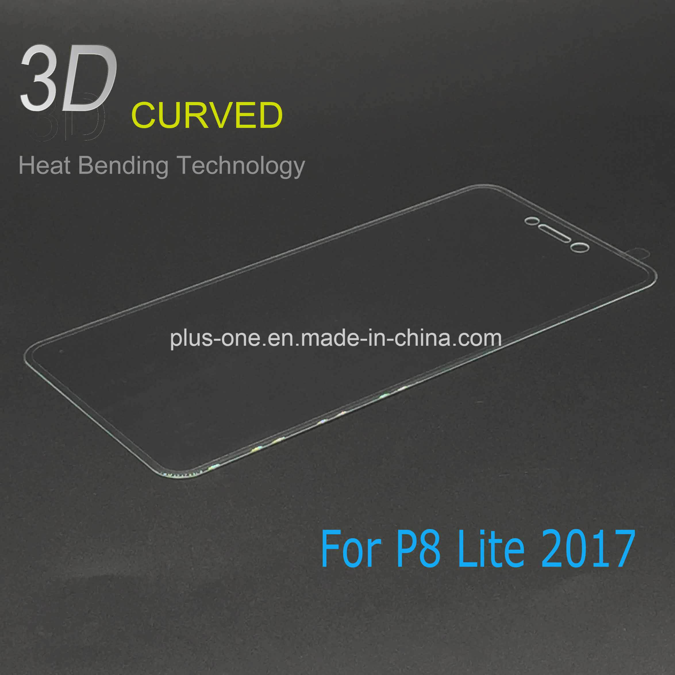 3D Curved Tempered Glass Screen Protector for Huawei P8 Lite 2017