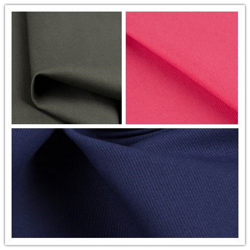 Woven Textile T400 Cotton Cavalry Twill Fabric for Shirt