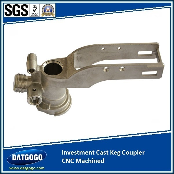 Investment Cast Keg Coupler with CNC Machined