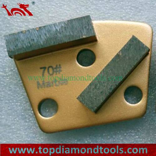 Marble Diamond Grinding Shoes with Double Segments