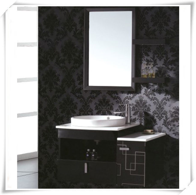 Black Steel Bath Vanity for Washroom