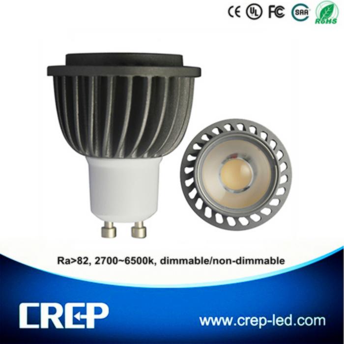 Ra>82 6W Dimmable GU10 COB LED Spotlight
