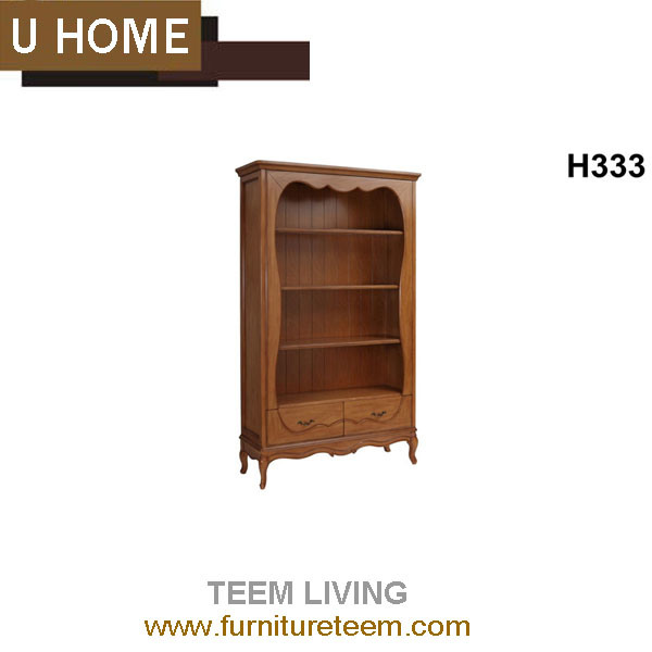 Modern Home Furniture Study French Wooden Bookshelf Cabinet