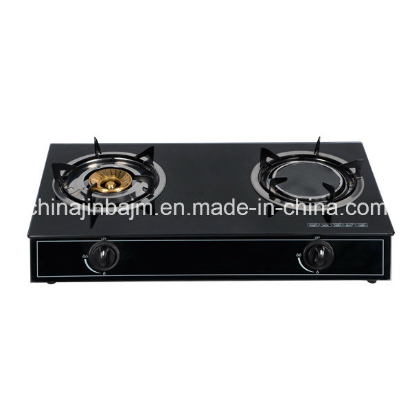 2 Burners Tempered Glass Top Stainless Steel Indian Burner Gas Stove /Gas Cooker