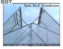 4mm Low Iron Tempered Glass for Open Roof Greenhouse (sides, gable)
