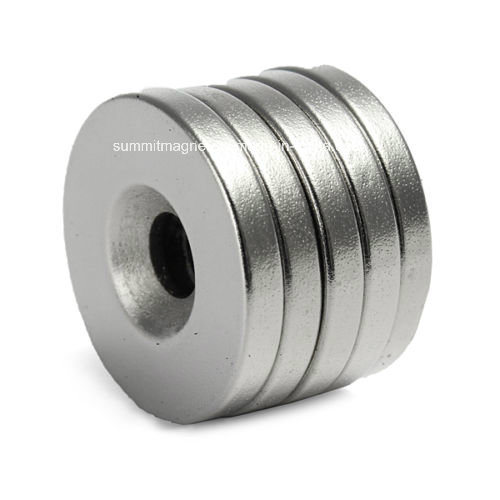 Ring Neodymium Magnets with Countersunk Screw