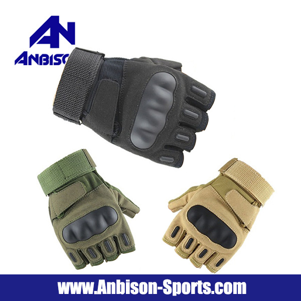 Anbison-Sports Airsoft Fingerless Half Finger Army Tactical Gloves