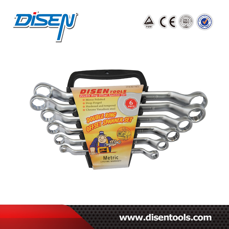 6 (6-17) Piece Chrome Plated Double Open End Spanner