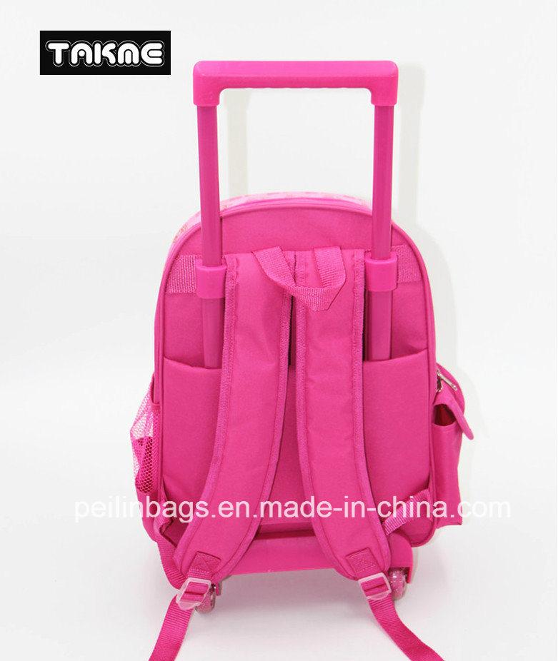 Cartoon Printing Trolley Bag School Bag for Children