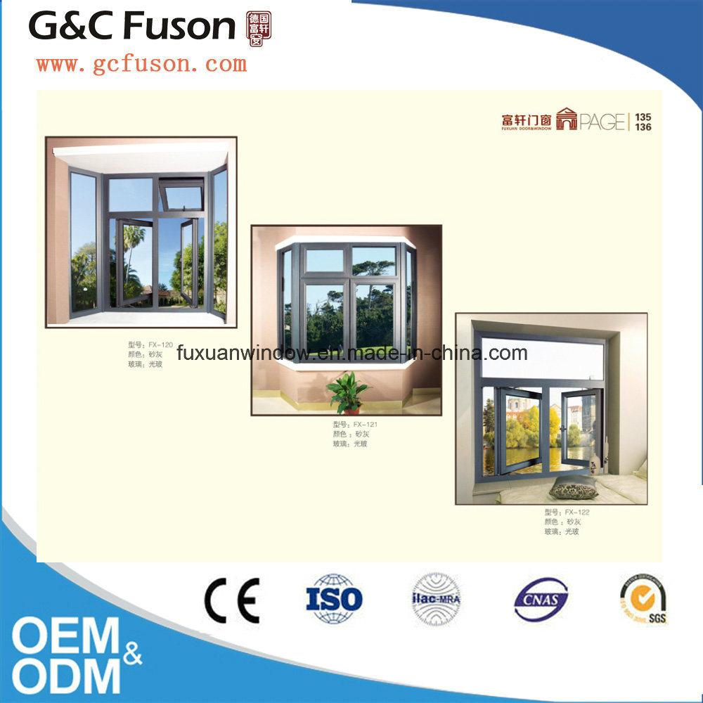 Arc Roof Aluminum Casement Window with Mirror Glass