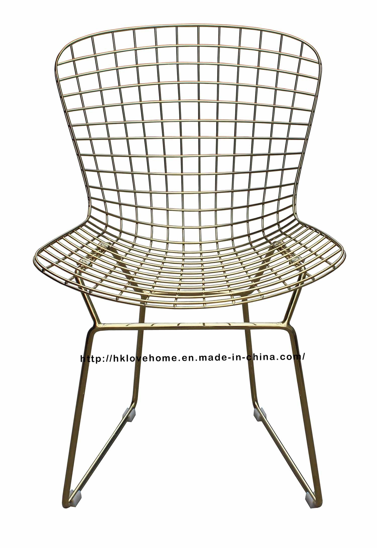China Modern Dining Restaurant Knock Down Metal Wire Chair   China Wire  Chair, Steel Chair