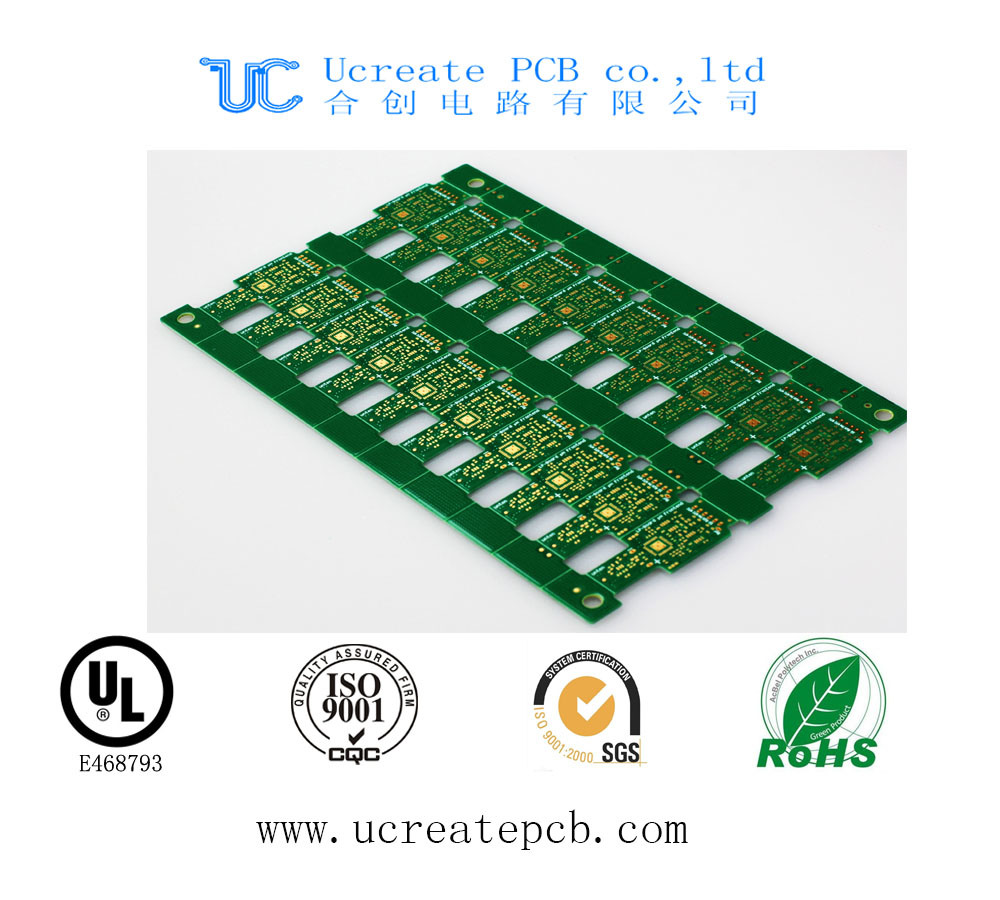 Fr4 PCB for CRT Color TV with Green Solder Mask