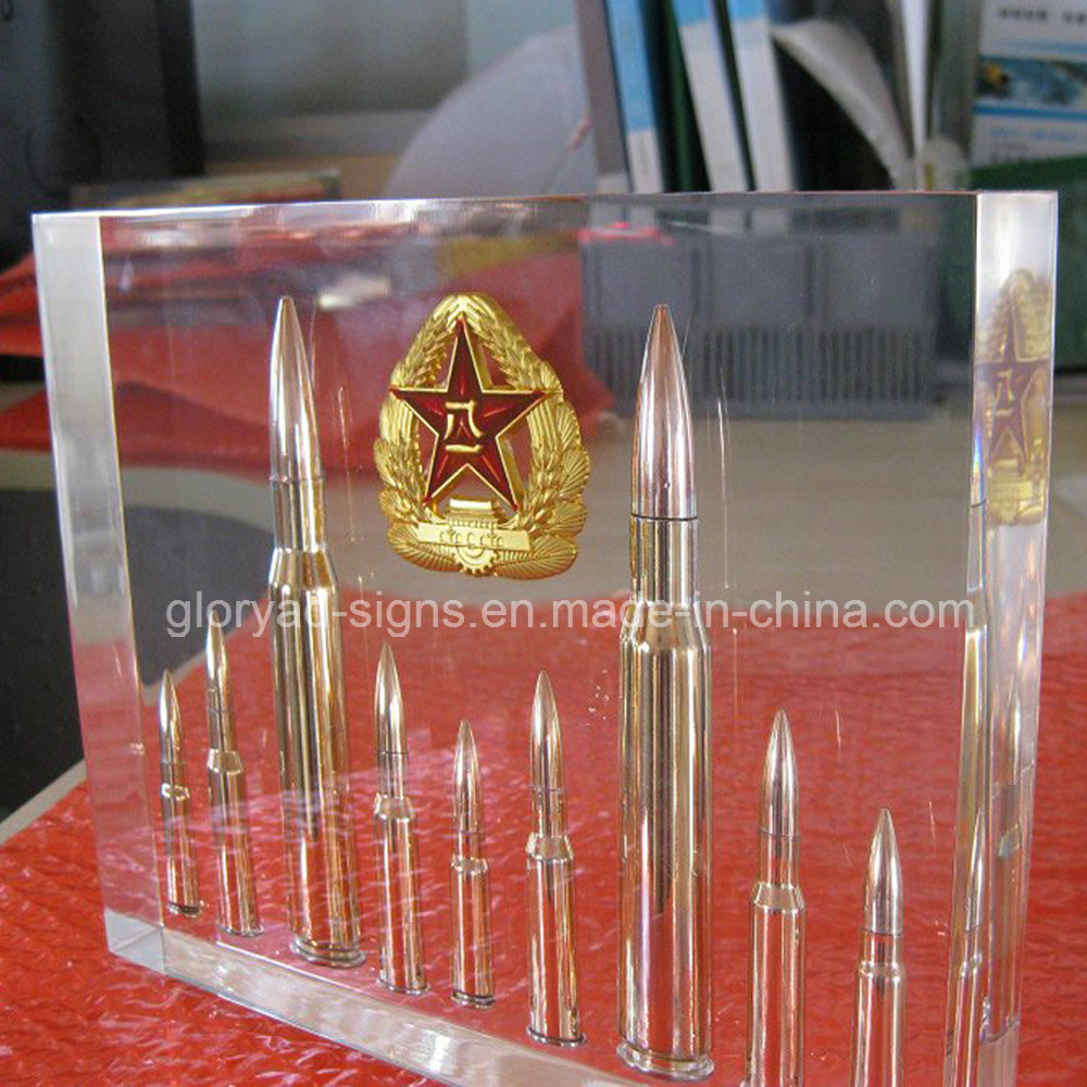 High Glossy Clear Resin Display with Drugs Inside Factory