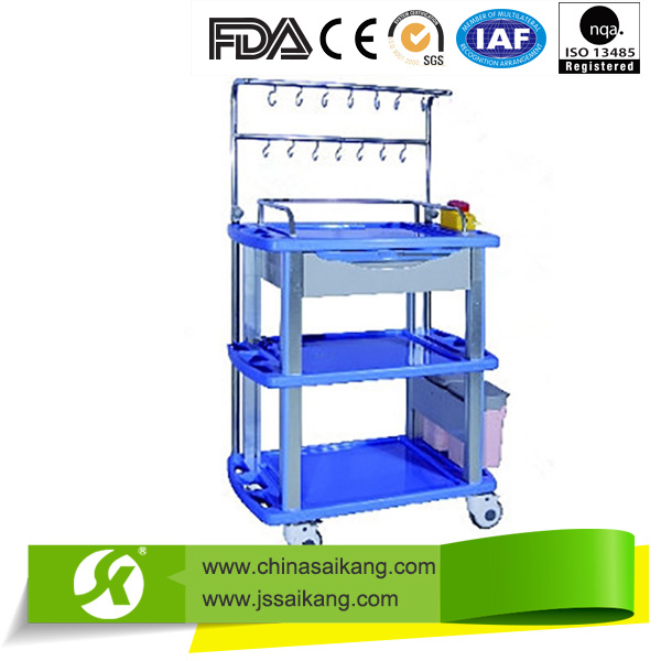 Medical Appliances Luxury Plastic Ambulance Trolley