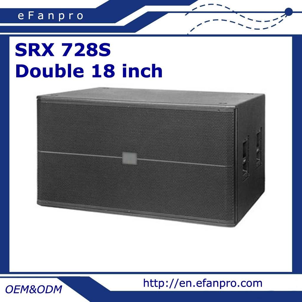 Dual 18 Inch Professional Speaker Loudspeaker Subwoofer (SRX 728S)