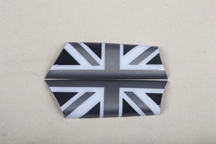 Brand New ABS Plastic UV Protected Sporty Black Union Jack Color Style with High Quality Door Inner Handle Covers for Mini Cooper R56