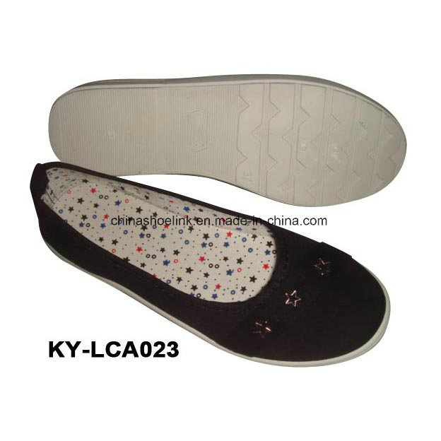 China Wholesale Lady Casual Shoes Canvas Upper Injection Sole