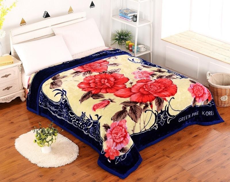 100% Polyster 2ply Flower Blanket