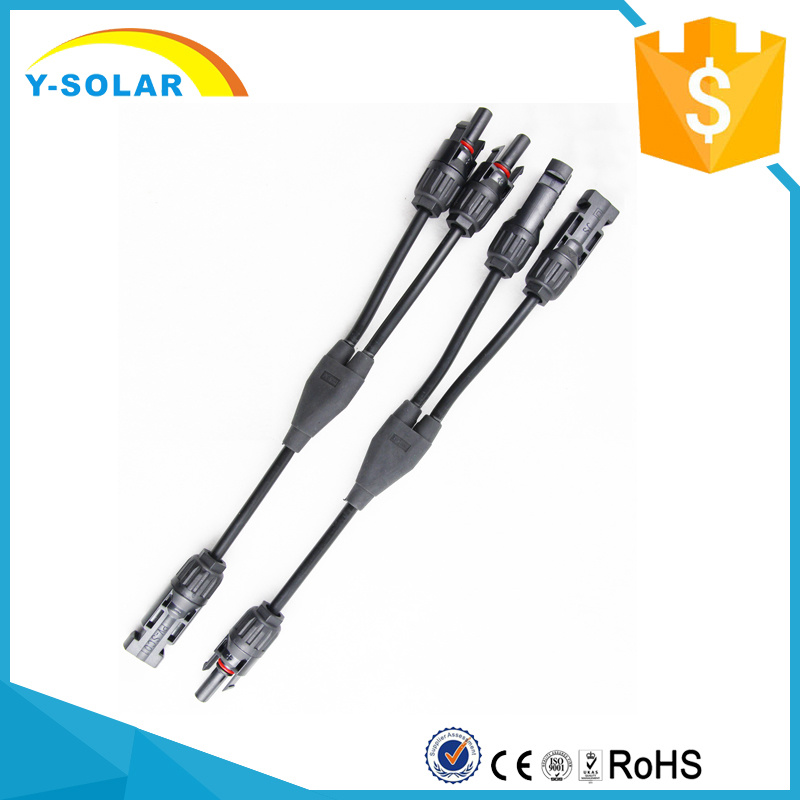 Mc4y 1 to 2 Panel Connectors M-FF and F-mm Branch Working Current 20-30A Mc4y-B2