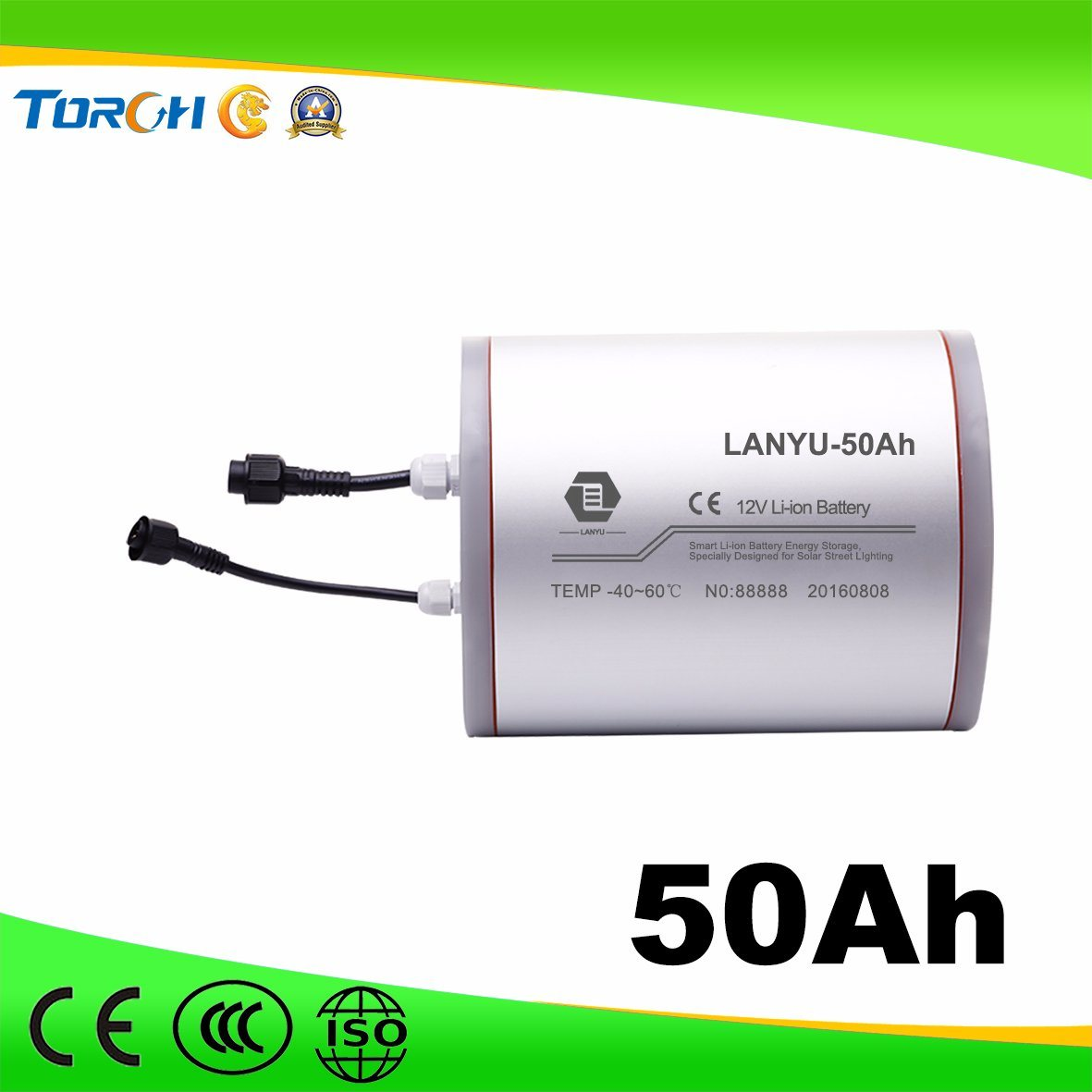 11.1V High Quality Rechargeable 50ah Solar Storage Deep Cycle Lithium Battery
