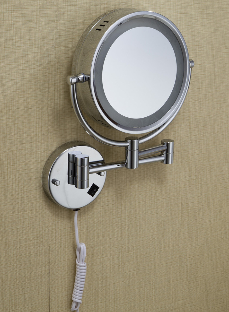 Round Bottom Cosmetic Mirror with LED Light (KW-K204)