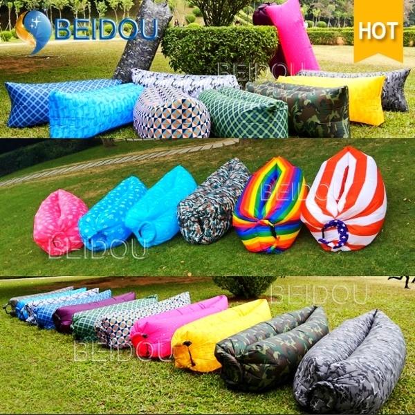 Inflatable Lounger Laybag Beach Hammock Air Sofa Bed Chair Lay Lazy Bean Sleeping Bag