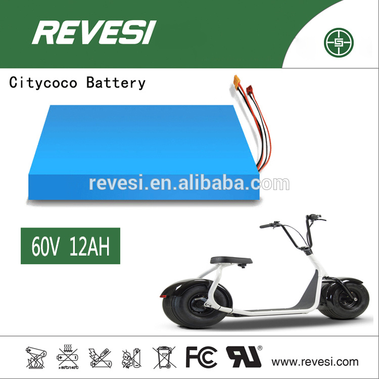 60V 12ah Citycoco Lithium Battery for 2 Wheel Electric Bike/Scooter/Motorcycle