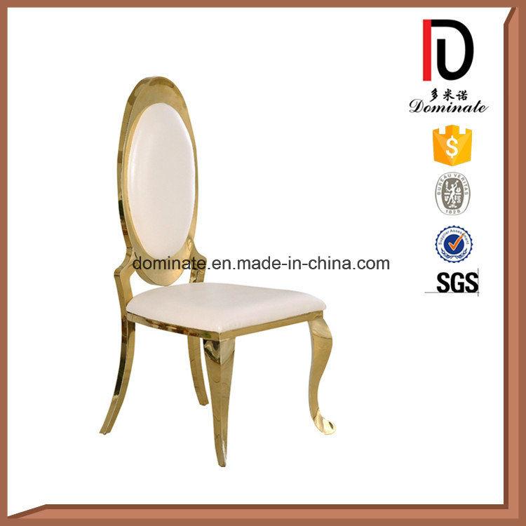 Modern Oval Back Wedding Rose Golden Hotel Restaurant Living Dining Room Furniture Stainless Steel Chair